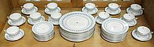 60 PC MINTON *ANCIENT LIGHTS* DINNERWARE SET;