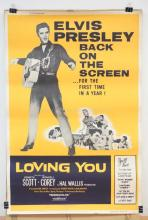 VINTAGE ELVIS PRESLEY MOVIE THEATER POSTER. *LOVING YOU* (R59-175). 1959 PARAMOUNT PICTURES. 40 X 60 IN.
