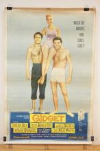 VINTAGE MOVIE THEATER POSTER *GIDGET* (59-14). 1959 COLUMBIA PICTURES. 40 X 60 IN