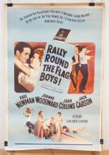 VINTAGE MOVIE THEATER POSTER *RALLY ROUND THE FLAG BOYS*. 1958 20TH CENTURY FOX. 40 X 60 IN.