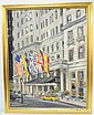 FRAMED O/C BY MAX MORAN, PLAZA HOTEL, 21 1/2 IN BY
