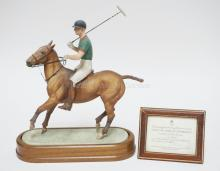 DORIS LINDNER FOR ROYAL WORCESTER *H.R.H. THE DUKE OF EDINBURGH*. LIM ED 635/750 WITH CERTIFICATE. 14 1/2  IN TALL.