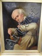 FRAMED O/C OF A MAN FIXING A SHOE; UNSIGNED;