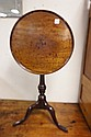 ANTIQUE SNAKE FOOT TILT TOP STAND; 20 1/4 IN DIA