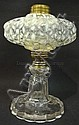 WHITE OPALESCENT SEAWEED LAMP; 7 1/2 IN H