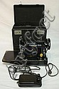 SINGER FEATHERWEIGHT SEWING MACHINE W/CASE; CAT. 3-120
