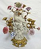 3 LIGHT CANDELABRUM W/BIRD ON A BRANCH STEM &