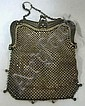 GORHAM STERLING SILVER MESH PURSE; KID LINER; 5