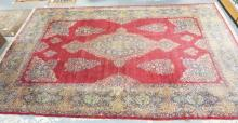 CA 1920'S FINE PALACE SIZE TABRIZ RUG. MEDALLION CENTER. 11 FT 5 IN X 18 FT 4 IN