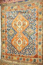 3FT 9 in x 5FT 1IN HAND WOVEN ORIENTAL RUG