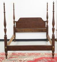 VIRGINIA GALLERIES FULL SIZE CHERRY HIGH POSTER BED. 66 INCHES HIGH.