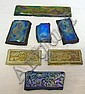GROUP OF 7 IRIDESCENT ART GLASS ORNAMENTS