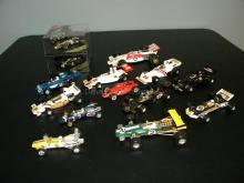 LOT OF VINTAGE DIE CAST INDY STYLE RACERS
