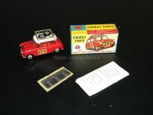VINTAGE CORGI 1967 MONTE-CARLO WINNIER BMC MINI COOPER WITH ORIGINAL BOX