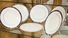 GROUP OF LENOX DINNER PLATES. 6 DIFFERENT PATTERNS.