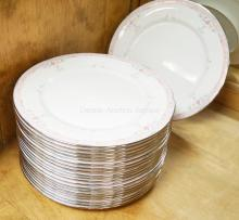 21 LENOX *EMILY* 10 7/8 INCH DINNER PLATES. DEBUT COLLECTION.
