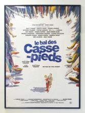 *LE BAL DES CASSE-PIEDS* THEATRE POSTER BY NICOLAS VIAL. 46 X 63 INCHES.