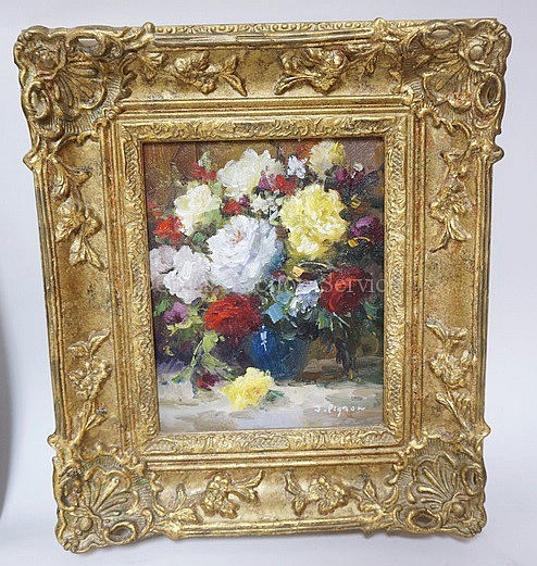 FRAMED O/C FLORAL STILL LIFE; 8 IN X 10 IN; ARTIST SIGNED