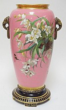 19TH C. 23 1/2 IN TALL MINTON BOLTED FLOOR VASE