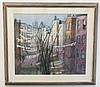 S.A. WHITNEY WATERCOLOR ON PAPER; NEW YORK SCENE