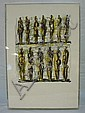 UNSUGNED SEMI-ABSTRACT PRINT BY HENRY MOORE; IN A