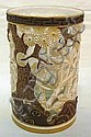 ROYAL WORCESTER RETICULATED CYLINDER W/GOLD TRIM;