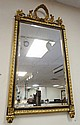 BEVELLED MIRROR IN ORNATE GILT & BLACK FRAME