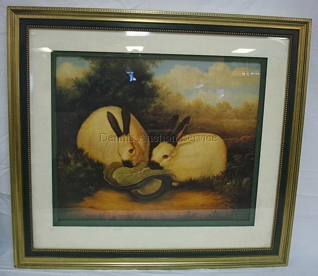 P Rolence Rabbits LARGE FRAMED PRINT BY ...