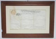 FRAMED 1810 PENNSYLVANIA DEED. BERKS COUNTY, LAMB'S PASTURE. JOHN LAMB.