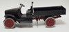 BUDDY L PRESSED STEEL DUMP TRUCK. 24 IN LONG
