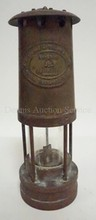 BRASS LANTERN; E. THOMAS AND WILLIAMS LTD, ABERDARE WALES. NO 8764. 9 3/4 IN H.