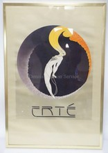 FRAMED ERTE POSTER;  1979, MIRAGE EDITIONS. 19 1/2 IN X 29 1/2 IN