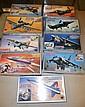 LOT (9) TAKARA JAPAN AIRCRAFT MODEL KITS