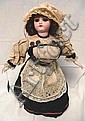 SIMON HALBIG 1078 GERMAN BISQUE HEAD DOLL; 14 1/2