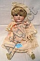 KESTNER 143 GERMAN BISQUE HEAD DOLL; 12 1/2 IN