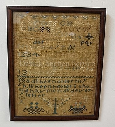 FRAMED SAMPLER W/UNUSUAL VERSE *HAD I BEEN OLDER,