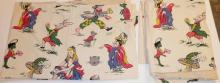 2 CURTAIN PANELS- ALICE IN WONDERLAND. APP F FT X 3 FT