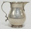 ENGLISH STERLING SILVER SMALL CREAMER. HALLMARKED. 3 IN H,  2.735 T OZ