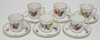 6 ROYAL COPENHAGEN DEMITASSE CUP AND SAUCER SETS. NO SCRATCHES IN THE MARKS. NO 1221/1546. O IN ROYAL UNDERLINED. ONE CUP HAS A STAPLE REPAIR.