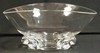 SIGNED STEUBEN LARGE CRYSTAL BOWL W/ APPLIED DECORATION. 11 1/8 IN X 9 1/2 IN, 5 1/8 IN H