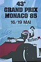 Anon Monaco Grand Prix 1985 Re-issued poster 99 x
