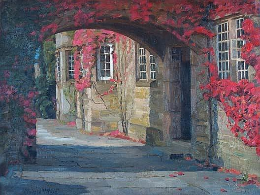 Winifred Wilson (1882-1973) Beauchief Hall Oil on
