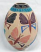 Mata Ortiz Polychrome Butterfly Jar --Yolanda Soto