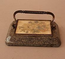 Vienna Biedermeier paper weight, octagonal granit