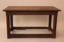 English gothic small oak table, on four legs, with
