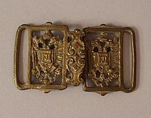 Austrian bronze belt backlet with two Austrian eag
