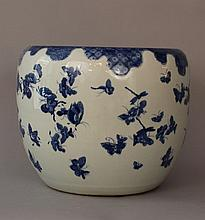 Chinese porcelain bowl, painted in blue colours on