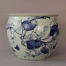 Chinese porcelain bowl with blue painted decoratio