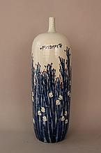 Chinese porcelain vase with painted flower decorat