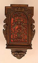 Flemish cupboard with one door and carved angels o